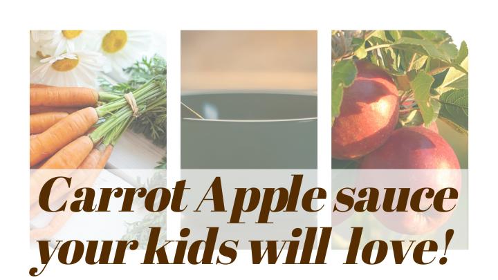 Simple Carrot-apple Sauce